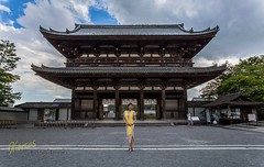 Entrance to Ninna-ji (Kostas Trovas) Tags: 京都 portrait asia canon ninnaji kyoto model beautiful travel tradition woman 6d architecture 日本 gate tourism temple japan