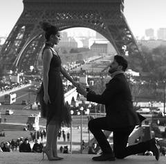 Would you marry me ? (AbdelBokeh) Tags: would you marry me wedding mariage louboutin eiffel tower paris heels dress