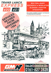 Trans Lancs Leaflet Cover (Museum of Transport Greater Manchester archive) Tags: trans lancs express 400 museum transport cheetham manchester wwwgmtscouk gmts bus buses museumoftransport gmtscollection greatermanchestertransportsociety boylestreet cheethamhill m88uw leaflet flyer poster publicity gmbuses north