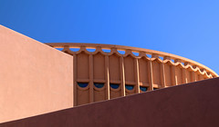 Emerging (studioferullo) Tags: abstract architecture art beauty bright building city colorful colors contrast dark design detail downtown edge light minimalism outdoor outside perspective pattern pretty scene serene tranquil shadow sky study sunlight sunshine street texture tone world arizona asu tempe museum curve lines blue brown diagonal roof wall arizonastate