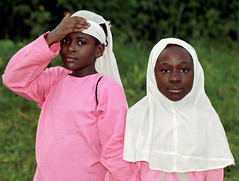Pink Muslim Girls (cowyeow) Tags: pink muslim schoolgirls girls littlegirls outfits islam faith faithschool religiousschool religiousstudy religiousstudies tradition traditional africa african uganda kasese pretty cute fun funny funnyafrica children students belief religion young singing hijab people