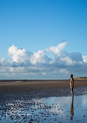 Reflecting on Another Place (Jessica's Rider) Tags: art liverpool crosby anotherplace anthonygormley