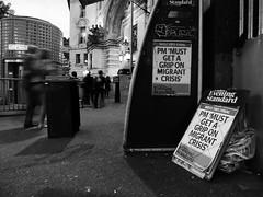 PM 'must get a grip on migrant crisis' (duncan) Tags: eveningstandard newspaperheadline