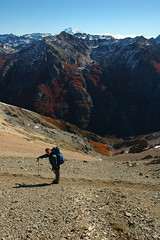 hiking high in the mountains of Bariloche