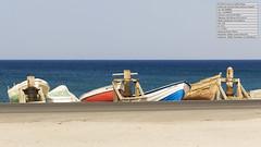 Barcas en la area. Salinas de Cabo de Gata, Almería. España (Francisco Guillén Rojas) Tags: paisajes color mar almería