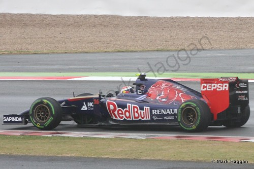 Daniil Kvyat in his Toro Rosso during qualifying for the 2014 British Grand Prix
