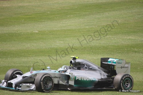 Nico Rosberg stops during The 2014 British Grand Prix