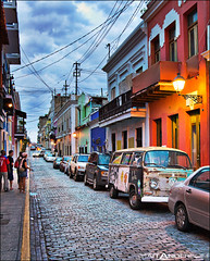 Streets of Old San Juan, Puerto Rico (Matt Anderson Photography) Tags: street travel tourism vertical architecture night puerto outdoors photography town alley streetlight san juan oldsanjuan puertorico nopeople illuminated rico cobblestone oldtown frontview capitalcities traveldestinations colorimage buildingexterior mattandersonphotography mattandersonphotographycaribbean2008tropical