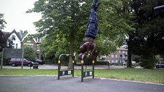 Handstand messing about at the park (HeritierFallyFerres) Tags: bar nokia gravity balance strength handstand workout press fitness calisthenics 808 pureview bentarmhandstand