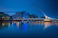 Samuel Beckett Bridge & Convention Centre Blue Hour (Paul O'B) Tags: longexposure bridge dublin bluehour samuelbeckett offshoot paulobrien lightcraft