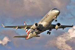 N419YX American Eagle Embraer ERJ-175LR departing KCLE (GeorgeM757) Tags: airplane aircraft aviation american americaneagle takeoff embraer clevelandhopkins regionaljet kcle alltypesoftransport erj175lr georgem757 n419yx
