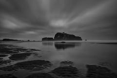 Face Rock (redspub) Tags: ocean longexposure blackandwhite seascape water clouds oregon pacificnorthwest facerock canon2470mm cooscounty bandonbeach ryanpainterphotography