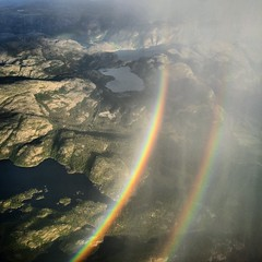 Rainbow over Lysefjorden, Norway (hkjellmorten) Tags: ocean norway clouds norge rainbow seascapes fjords rogaland lysefjorden ryfylke lysebotn visitnorway