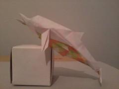Dolphin Fumiaki Kawahata (Boy -) Tags: origami dolphin golfinho kawahata fumiaki