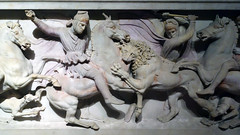 The Alexander Sarcophagus (profzucker) Tags: greek istanbul phoenician alexanderthegreat sidon pentelic