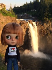 Ruby visits Snoqualmie Falls