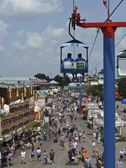 The Food Highway (tim.perdue) Tags: carnival columbus ohio summer sky food fairgrounds highway ride state fair center exposition glider skyride
