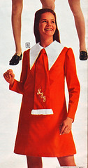 Sears 70 fw red dress (jsbuttons) Tags: red clothing mod dress buttons sears womens clothes 70s catalog 1970 collar seventies 70 vintagefashion
