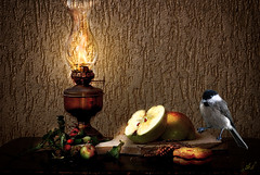 ALL'IMBRUNIRE......AT NIGHTFALL  (ANNA BARBERIS) Tags: stilllife apple stilleben witchs mela oillamp allimbrunire cinciamora atnightfall witchdreams lumeapetrolio commentbygwlap