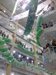 Celebrating Independence Day in Karachi (Batool Nasir) Tags: pakistan confetti celebration midnight shoppingmall independenceday karachi tariqroad 14august