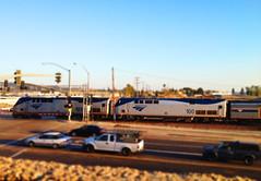 Amtrak Southwest Chief #4 (hupspring) Tags: railroad train diesel engine amtrak intersection locomotive southerncalifornia orangecounty placentia railroadcrossing passengertrain southwestchief p42 amtk amtk183 amtk100 bnsfsanbernardinosub