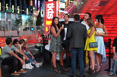 Times Square after midnight (zaxouzo) Tags: nyc people public fashion candid latenight timessquare 2014 primelens nikond90