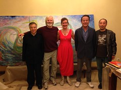 "vlnr: Uncle, Roy, Eveline, Shang (Mecaenas) and Shu (Assistent) in front of our triptych ""Wuhan Water"" 2014 • <a style=""font-size:0.8em;"" href=""http://www.flickr.com/photos/51888469@N05/14919278280/"" target=""_blank"">View on Flickr</a>"