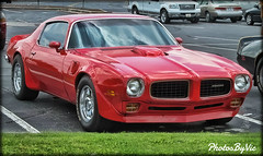 '73 Trans Am (Photos By Vic) Tags: old red classic car vintage automobile antique vehicle pontiac transam musclecar