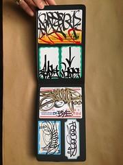 book3 (noverNYC) Tags: new nyc streetart black graffiti book sticker letters tags usps graff gwb blackbook handstyles slaps ogm nover aob novernyc