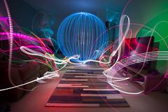 Disco Ball madness. Light Painting. LED Lenser P7QC, V24 and DIY orb tool. (darrenhopkins) Tags: light lightpainting canon painting luces diy orb led torch oxford orbs lightgraffiti oxfordshire 6d bicester 1740mml lenser sooc darrenhopkins ledlenser orbtool p7qc