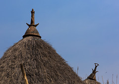 Pot On Top Of Thatch Roof  In Nuer Tribe, Gambela, Ethiopia (Eric Lafforgue) Tags: poverty africa travel house building home horizontal architecture outdoors photography community day exterior village outdoor top sudan traditional border straw nobody nopeople tribal structure hut homemade simplicity pottery thatch homestead copyspace tradition thatchedroof ethiopia tribe cultures domesticlife anthropology developingcountries thatched lifestyles hornofafrica eastafrica thatchedhut ruralscene colorpicture nonurbanscene colourimage gambela indigenousculture itang africanculture tukul gambella builtstructure residentialstructure colourpicture gambelagambella ethio1401886