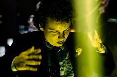 Il maestro (Carlos Mota Jr) Tags: portrait hands dancing availablelight spotlight suit dancefloor weddingparty colourful lookingdown montesclaros beamoflight
