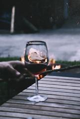 Untitled (christie.rainey) Tags: glass paper fire hand wine harrypotter appreciation feuer glas zettel wein goblet gobletoffire
