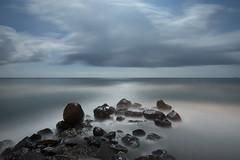 Volcanic moonrocks (Alex Bamford) Tags: longexposure sea rocks santorini greece moonlit moonlight alexbamford alexbamfordcom