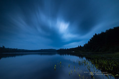 Rain Keeps Fallin' on My Head (Thousand Word Images by Dustin Abbott) Tags: longexposure blue summer lake ontario canada reflection beautiful rain umbrella nightscape atmosphere wideangle nightscene bluehour fullframe drama manualfocus algonquinpark whitefishlake uwa familytime ndfilter manfrotto190xbtripod canoneos6d nipissingunorganizedsouthpart thousandwordimages dustinabbott nipissingunorganizedsouthpa dustinabbottnet adobelightroom5 rokinon14mmf28aspherical samyangfilterholder160seriesfilter