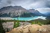 Peyto Lake II (Hitzeman Photography) Tags: banffnationalpark canadianrockies peytolake clouds lake mountains reflections sky trees alberta canada ca
