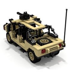 BRIX Military HMMWV V1.0 Soft-top Tan B (IK) Tags: lego military hummer ldd hummvee