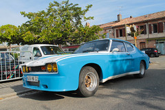 Ford Capri (xwattez) Tags: street old france ford car racecar capri automobile voiture rue ancienne 2014 cadours