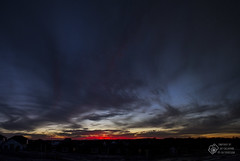 Red Sky at Night (CalTek Design) Tags: sunset sky sun ontario clouds pano panoramic peterborough stitched