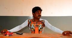 Pulikali Thrissur Kerala (Ashit Desai) Tags: india art festival painting dance paint dancing body folk kali south tiger kerala leopard ritual puli thrissur trichur desai 2014 pulikali ashit