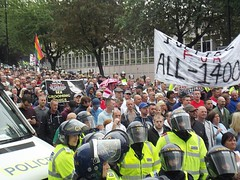 EDL March Rotherham Abuse Scandal (61) (Paige...,) Tags: uk england police abuse rotherham southyorkshire demonstrationmarch edl rmbc riversidehouse rotherhamcouncil englishdefenceleague sept2014 creativecommons4