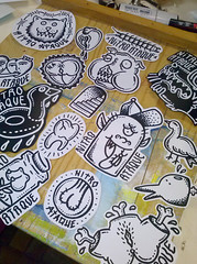 NITRO ATAQUE STICKERS (GARCCIA) Tags: music dog sexy bird ass rock sex illustration cat tooth penis pig duck sticker boobies heart sãopaulo dick pussy cock sexo porn bitch topless funk rap garcia música youtube dogstyle nitroataque