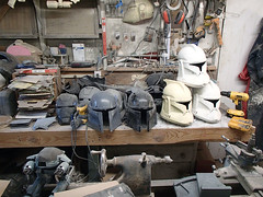 Helmets Stacking Up (thorssoli) Tags: starwars costume helmet replica armor clone prop mandalorian clonetrooper deathwatch episode2 epii
