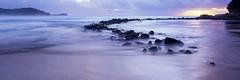 Avoca Beach Sunrise (Martin Canning) Tags: panorama seascape sunrise landscape waves fuji australia panoramic velvia nsw newsouthwales centralcoast 617 avocabeach velvia50 g617 watermovement epsonv700 fujig617 martincanning martincanningcom