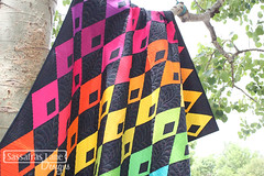 New Pattern - Diamond Detour (Sassafras Lane Designs) Tags: rainbow colorful pattern quilt diamond lane solids designs detour sassafras
