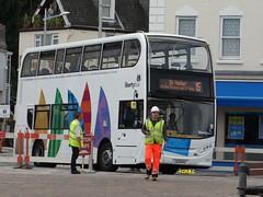 Follow the leader (Coco the Jerzee Busman) Tags: uk bus liberty islands coach nimbus ct jersey plus dennis dart channel caetano