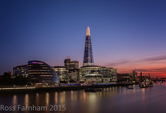 Sunset (Photo Lab by Ross Farnham) Tags: city blue sunset london thames river hall nikon nightshot hour shard hitech d800 2470mm heliopan