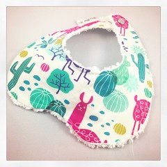 IMG_2539 (Baby Bliss 7lbs) Tags: baby bib burp cloth knot hat flannel cotton chenille knit metal snap stars cup cake arrows llama birds flowers viewfinder retro jacks