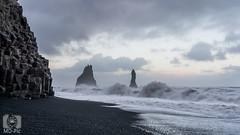 Naturgewalten (MD-Pic) Tags: reynisdrangar iceland island ocean ozean atlantik meer sea wasser water reynisfjara basalt naturgewalt landschaft landscape wolken clouds nikon d7100