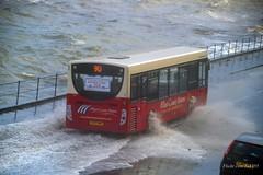 (Zak355) Tags: rothesay isleofbute bute scotland scottish weather choppy rough sea splash westcoastmotors wcm bus sk07hmf flood water enviro